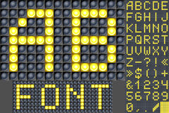 Scoreboard lamp alphabet Stock Photos