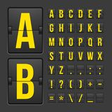 Scoreboard letters and symbols alphabet panel Stock Photos