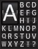 Scoreboard Mechanical Panel Letters Alphabet. Stock Image