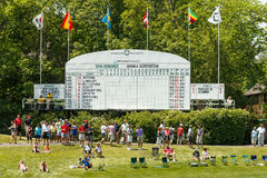 Scoreboard at the Memorial Tournament Stock Image