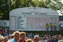 Scoreboard at the Memorial Tournament Stock Photos