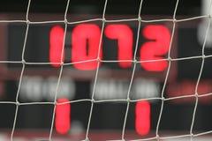 Scoreboard through net Royalty Free Stock Images