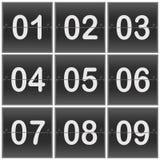 Scoreboard Numbers Stock Image