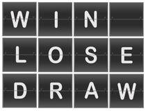 Scoreboard Numbers. Scoreboard flipper result Win lose draw Royalty Free Stock Photo