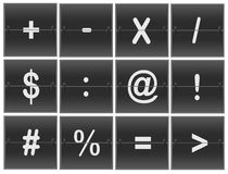 Scoreboard Numbers. Scoreboard flipper math symbol sign Royalty Free Stock Image
