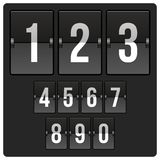 Scoreboard with numbers Stock Images