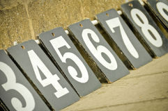 Scoreboard numbers Stock Photography