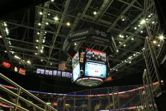 Scoreboard at Quicken loans Arena Stock Photos