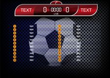 Scoreboard soccer design., Sport button element, Banners for foo Royalty Free Stock Image