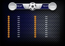 Scoreboard soccer design, Sport button element, Banners for foot Royalty Free Stock Image