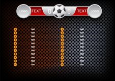 Scoreboard soccer design, Sport button element, Banners for foot Royalty Free Stock Images