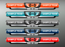 Scoreboard soccer design. Scoreboard sport template for football and soccer, vector illustration Royalty Free Stock Image