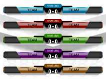 Scoreboard sport game. For football or soccer, vector illustration Stock Photos