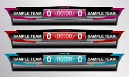 Scoreboard sport game royalty free illustration