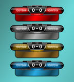 Scoreboard sport object. Design for football and soccer, vector illustration Royalty Free Stock Photography