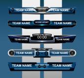 Scoreboard sport template vector illustration