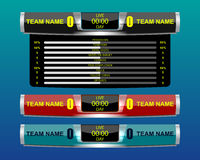 Scoreboard sport template royalty free illustration