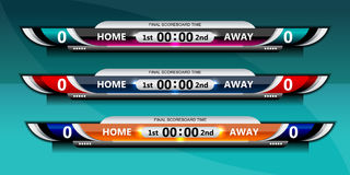 Scoreboard sport template Stock Photography