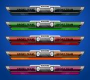 Scoreboard sport template stock illustration