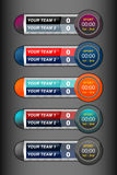Scoreboard sport timer. Design for football and soccer, vector illustration Stock Photography