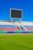 Scoreboard at sports stadium Royalty Free Stock Photo