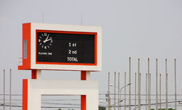 Scoreboard in stadium. Big scoreboard in stadium Stock Photos