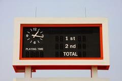 Scoreboard in stadium. Big scoreboard in stadium Royalty Free Stock Photos