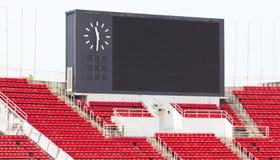 Scoreboard At Stadium. stock photography