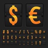 Scoreboard symbols alphabet mechanical panel Royalty Free Stock Photography