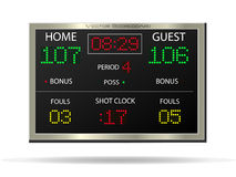 Scoreboard, Vector Illustration Royalty Free Stock Image