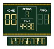 Scoreboard vector score board digital display football soccer sport team match competition on stadium illustration set. Of score-board championship information vector illustration