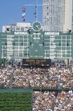 Scoreboard at Wrigley Field Royalty Free Stock Photography