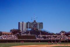 Scoreboard for Wrigley Field, Chicago, IL Royalty Free Stock Photo