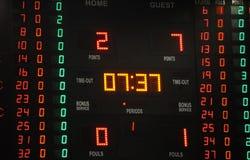Scorebordpunt tijdens een Mandgelijke Royalty-vrije Stock Fotografie