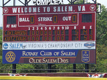 Scorebroad au base-ball Chanpionship de la Division 2 de NCAA Images libres de droits