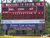 Scorebroad przy NCAA podziału 2 softballem Chanpionship Obrazy Royalty Free