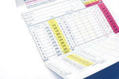 Scorecard Royalty Free Stock Photography