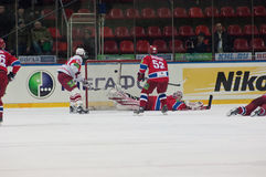 Scored goal in the CSKA gate Royalty Free Stock Images