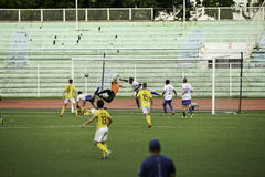 Scored Goal Kaya vs Stallions - Manila Football United League Philippines. The 2016 United Football League is the seventh season of the UFL since its stock image
