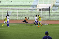 Scored Goal Kaya vs Stallions - Manila Football United League Philippines. The 2016 United Football League is the seventh season of the UFL since its royalty free stock images