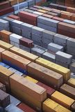 Scores of Cargo Containers sitting on lot Stock Image