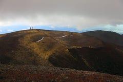 Scoria cones near Tolbachinskiy volcano. Stock Image