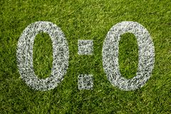 0:0 Scoring. For on a soccer meadow Royalty Free Stock Photography