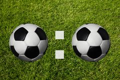 0:0 Scoring. For on a soccer meadow Royalty Free Stock Photo