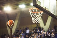 Scoring the winning points at a basketball game. Scoring the winning points at  basketball game Royalty Free Stock Photography