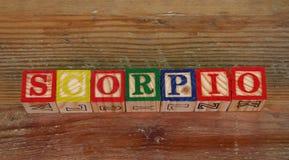 Scorpio термине Стоковое Изображение