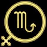 Scorpio 001 dello zodiaco Immagini Stock