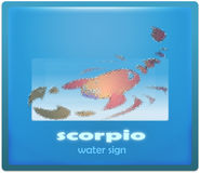 Scorpio. Water sign of zodiac system vector illustration