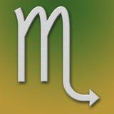 Scorpio Aluminum Symbol. On background degraded vector illustration