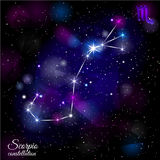 Scorpio Constellation With Triangular Background. Royalty Free Stock Photo
